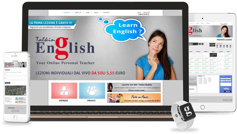 Iconic Srl - Realizzazione Sito Web - Talking English a Londra