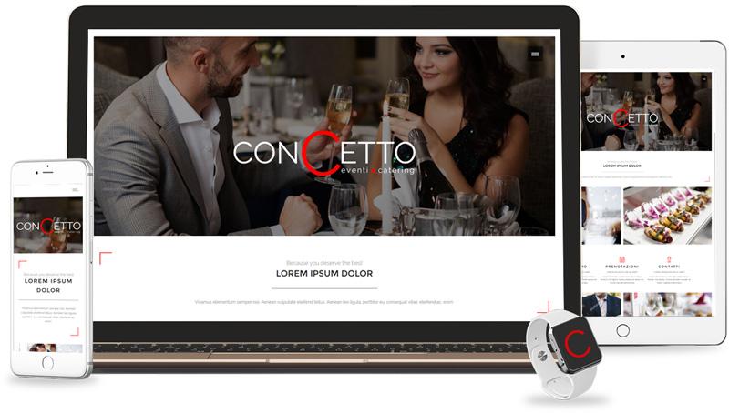 Iconic Srl - Realizzazione Sito Web - Concetto Catering a Modena