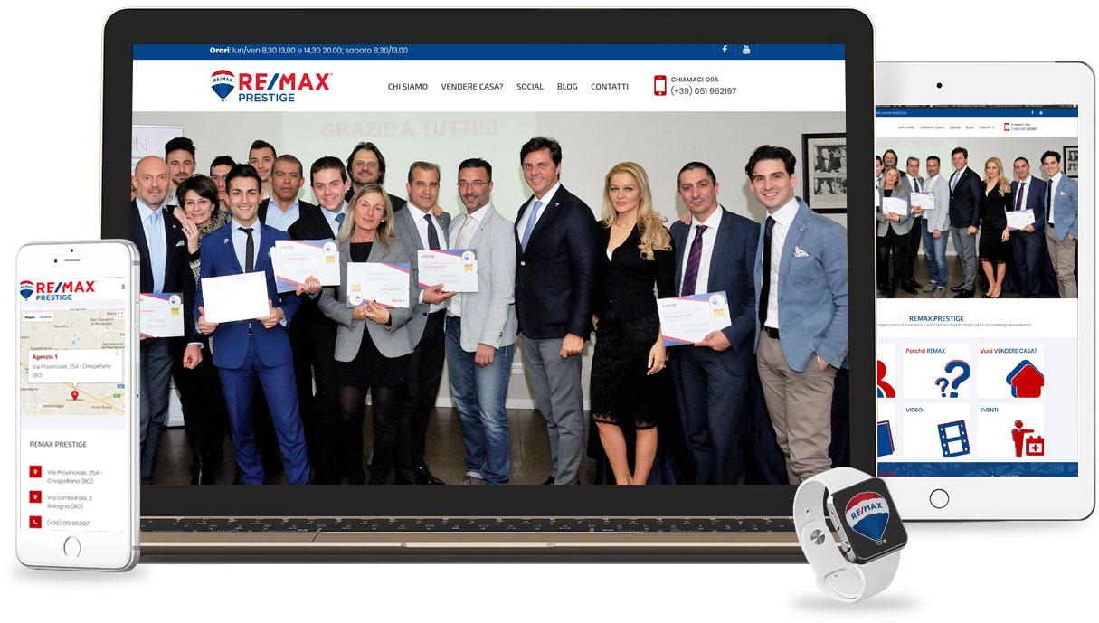 Iconic Srl - Realizzazione Sito Web - Remax Prestige a Bologna