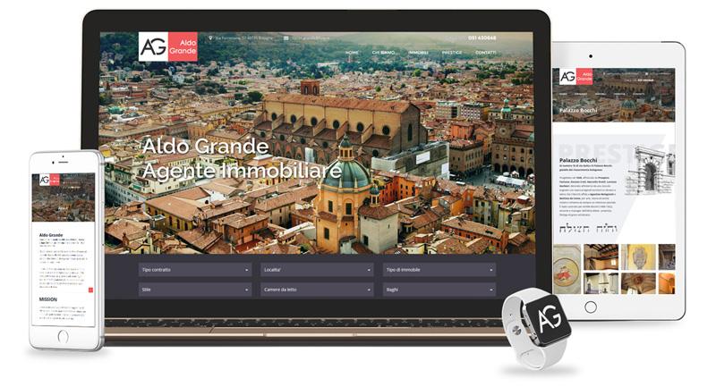 Iconic Srl - Realizzazione Sito Web - Aldo Grande Agenzia Immobiliare a Bologna