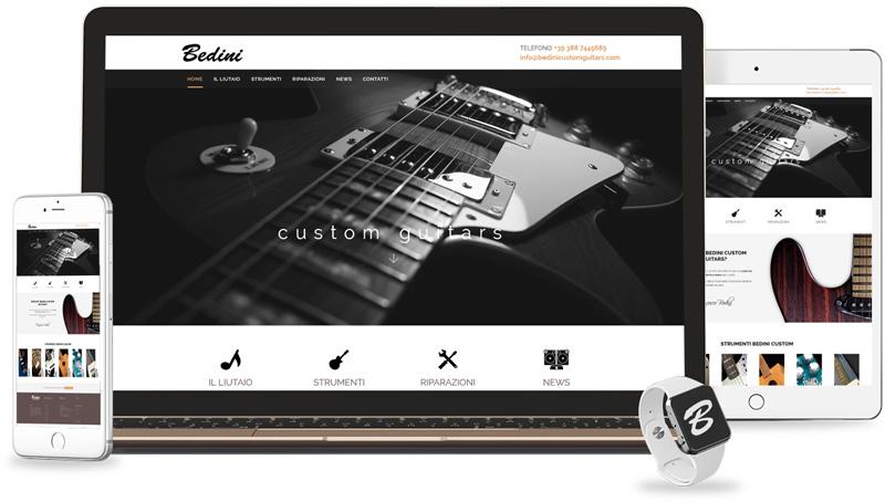 Iconic Srl - Realizzazione Sito Web - Liutaio Bedini Custom Guitars a Ferrara