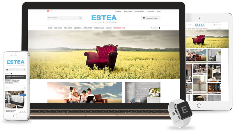 Iconic Srl - Realizzazione Sito Web - eCommerce - Estae Mobili a Casalmaggiore (CR)