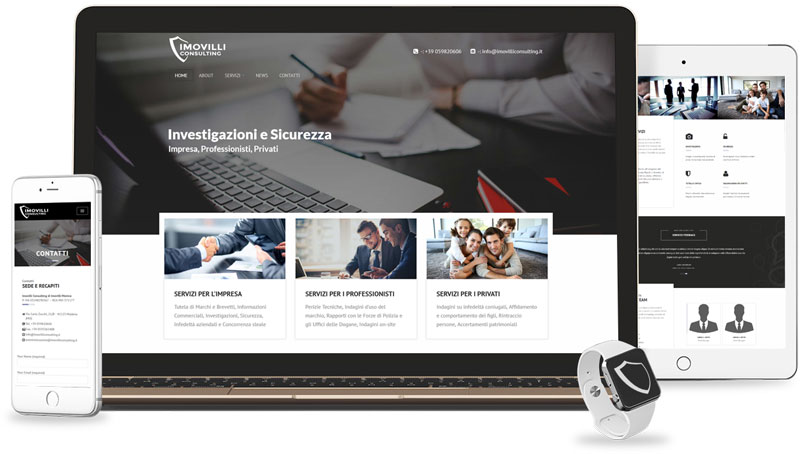 Iconic Srl - Soluzioni efficaci e strategiche - Realizzazione sito web di Imovilli Consulting a Modena