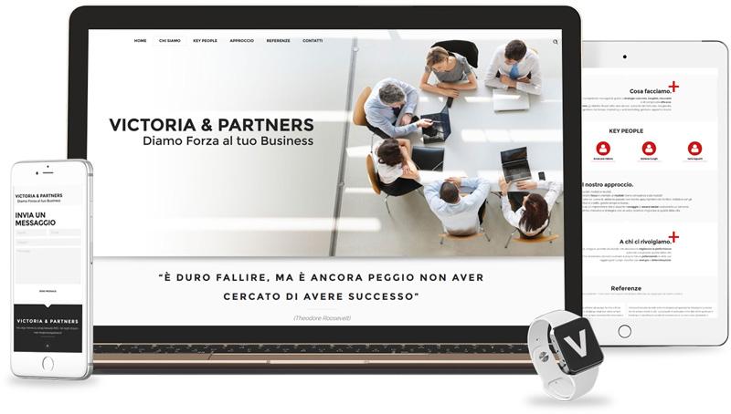 Iconic Srl - Soluzioni efficaci e strategiche - Realizzazione sito web di Victoria & Partners