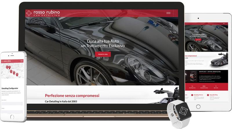 Iconic Srl - Realizzazione Sito Web - Rosso Rubino Car Detailing a Piacenza