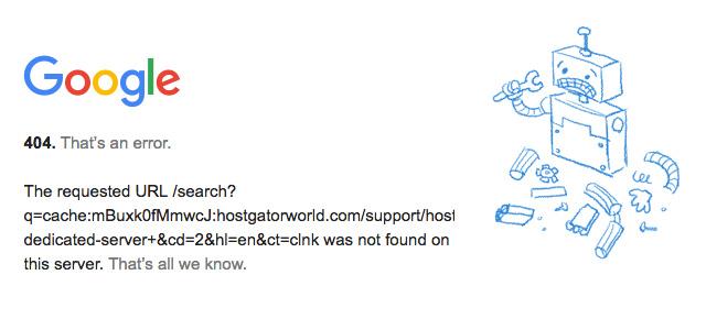 Iconic Srl - Errore 404 di Google